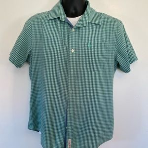 Penguin brand button down checkered s/s shirt